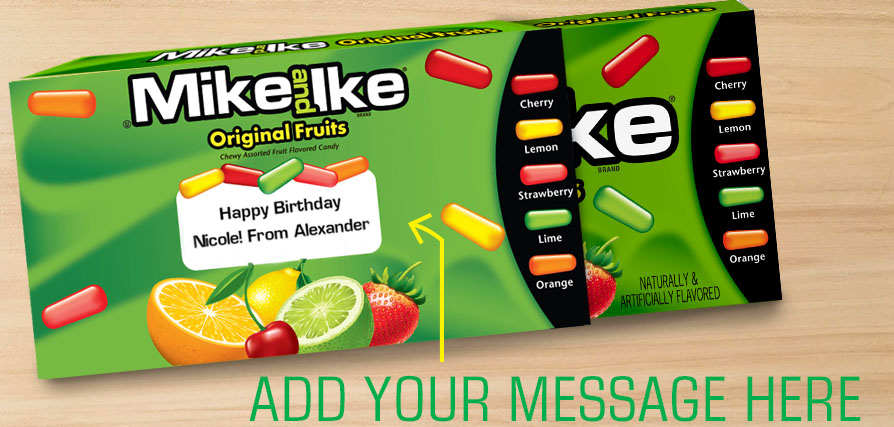 Mike & Ike Personalized